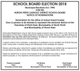 Nomination for the office of school board trustee