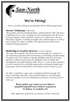 Sun-North SYSTEMS is hiring