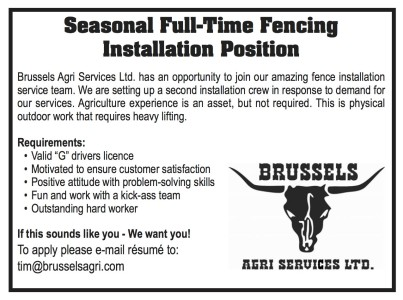 Seasonal Full-time Fencing Installation Position Open